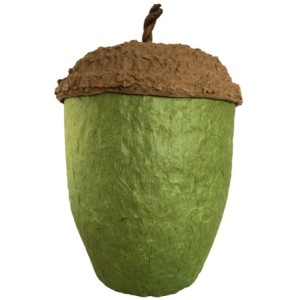 Acorn Design Biodegradable Cremation Ashes Urn - MOSS GREEN