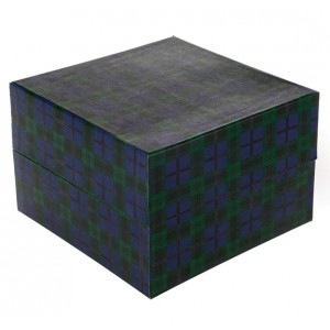 Biodegradable Cremation Ashes Urn / Casket (2 Adults - Companion) - Tartan Blue