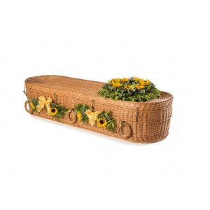 """Premium Wicker Willow (Oval Shape) Child Coffins - """"The Natural Choice"""""""