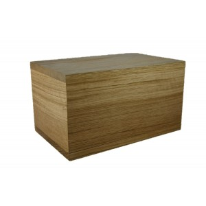 VAULT Solid Oak Cremation Ashes Casket -**FREE ENGRAVING**