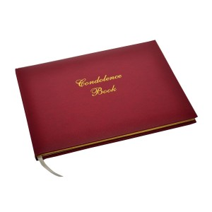 A Lasting Tribute - Burgundy Condolence Book