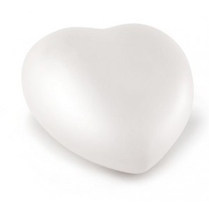 Ceramic Heart Shape Small Cremation Ashes Urn – CHERISHED  WHITE - Capacity 0.5 Litres