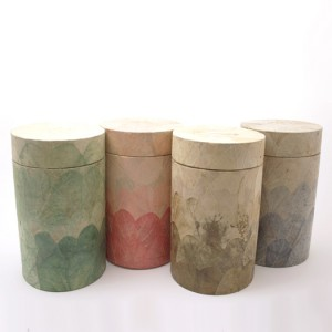 Leaf Urn - ROUND Shape - Choice of Colours