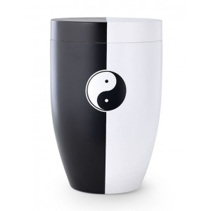 Contemporary Yin & Yan Design Cremation Ashes Urn