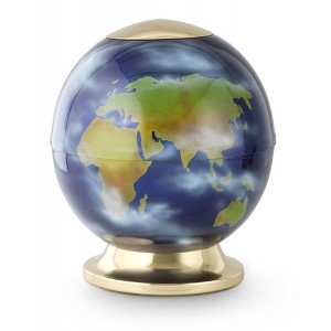 World Globe / Unique Planet Cremation Ashes Urn