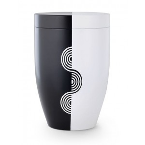 Contemporary Light & Shade Wave Design Cremation Ashes Urn