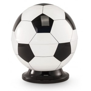 Premier Design Cremation Ashes Urn - BLACK & WHITE FOOTBALL