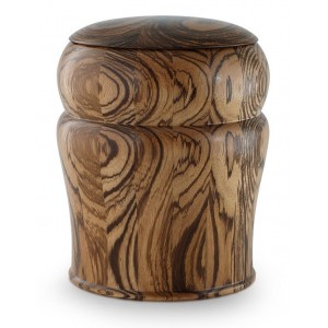 Zebra Wood Cremation Ashes Urn
