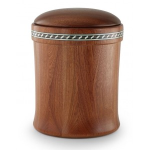 Mahogany Cremation Ashes Urn