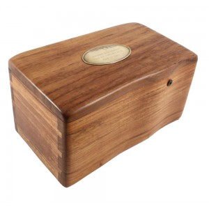 Classic Fine Wooden Cremation Ashes Caskets - The Avondale (Solid Teak) - FREE ENGRAVING