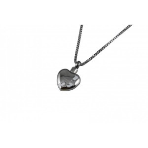 Ash Pendant Chelsea Heart with Footprint Design