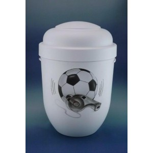 Biodegradable Cremation Ashes Funeral Urn / Casket - THE FINAL WHISTLE (Sport / Football)