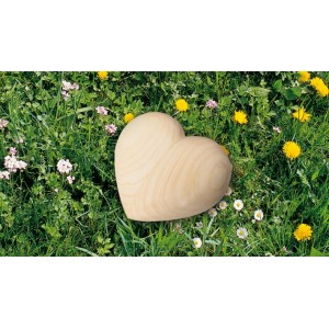 High Quality German Wooden Heart Urn. Made from ASH (Considered the King of Trees) Capacity 1.0 litres