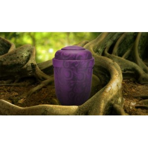 Biodegradable Cremation Ashes Funeral Urn / Casket - PURPLE