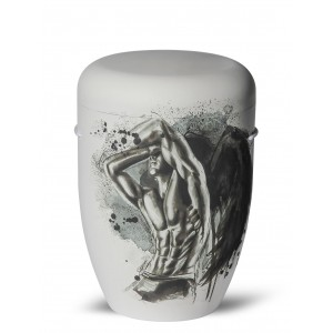 Biodegradable Cremation Ashes Funeral Urn / Casket – MAN ANGEL (Rise after Falling)