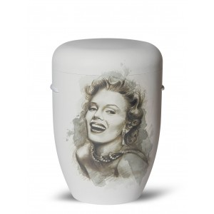 Biodegradable Cremation Ashes Funeral Urn / Casket – MARILYN MONROE (Candle In The Wind)