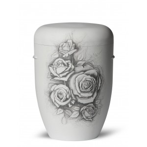 Biodegradable Cremation Ashes Funeral Urn / Casket – ROSE (Love is Kind, Love is Special)