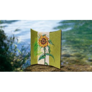 Biodegradable Cremation Ashes Urn – SUNFLOWER  IN AUTUMN (Airbrushed by Skilled Artists)