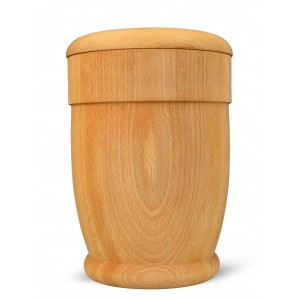 High Quality Hardwood (Beech) Cremation Ashes Urn - THE RUNNYMEDE