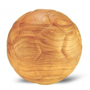 High Quality World Champion Wooden Football Urn - Matt Oiled Finish