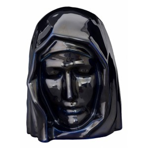 Our Holy Mother - Ceramic Cremation Ashes Urn – Cobalt Metallic
