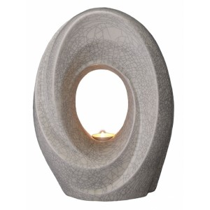 Eternal Flame - Ceramic Cremation Ashes Urn / Candle Holder – Craquelure