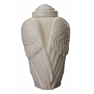 Angelic Wings - Ceramic Cremation Ashes Urn – Transparent