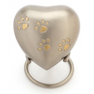 "Heart 3"" Pet Keepsake (Silver)"