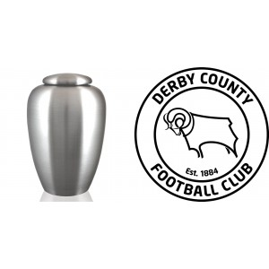 UK Football Team Cremation Ashes Urn – Engraved Logo – Derby County FC – The Rams