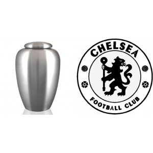 UK Football Team Cremation Ashes Urn – Engraved Logo – Chelsea FC – The Blues