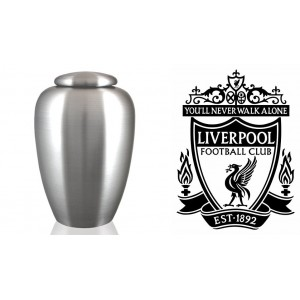 UK Football Team Cremation Ashes Urn – Engraved Logo – Liverpool FC - You'll Never Walk Alone