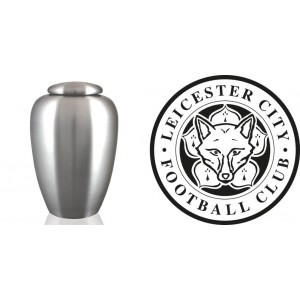 UK Football Team Cremation Ashes Urn – Engraved Logo – Leicester City – Foxes Never Quit