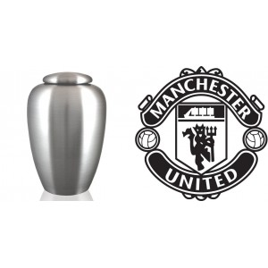 UK Football Team Cremation Ashes Urn – Engraved Logo – Manchester United – The Red Devils