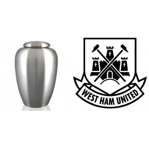 UK Football Team Cremation Ashes Urn – Engraved Logo – West Ham – I'm Forever Blowing Bubbles