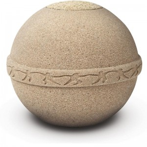 Round Biodegradable Urn - Sea and Land Burial