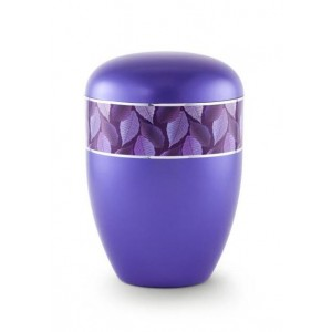 Biodegradable Urn (Leaf Border - Violet)