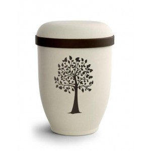 Biodegradable Urn (Natural Stone with Tree Design)