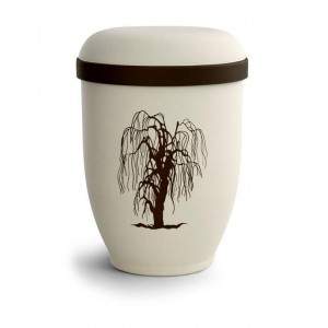 Biodegradable Urn (Natural Stone with Willow Design)