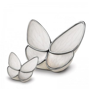 Brass Cremation Ashes Urn (Butterfly with White Wings)