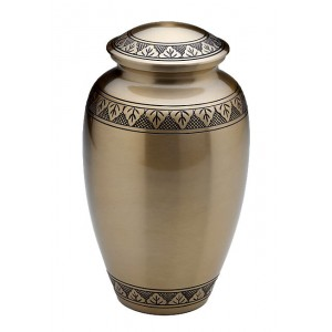Brass Urn (Brass with Engraving)