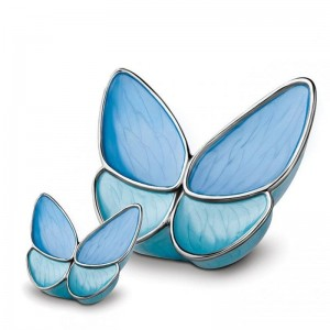 Brass Cremation Ashes Keepsake (Butterfly with Blue Wings) **SPECIAL OFFER**