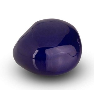 Cremation Ashes Keepsake / Miniature Urn – Huggable Cuddle Stone (Dark Blue High Shine)