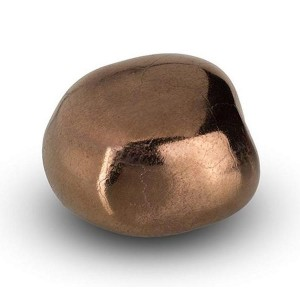 Cremation Ashes Keepsake / Miniature Urn – Huggable Cuddle Stone (Bronze / Gold Shine)