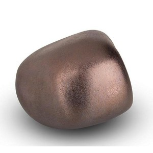 Cremation Ashes Keepsake / Miniature Urn – Huggable Cuddle Stone (Rustic Bronze Matt)