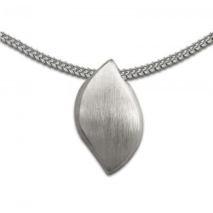Sterling Silver Abstract Leaf Pendant