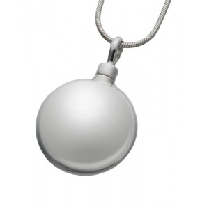 Large Sterling Silver Round Pendant