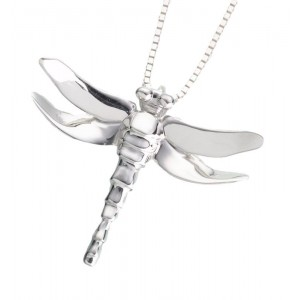 Sterling Silver Dragonfly Pendant - 'Forever In Our Hearts'