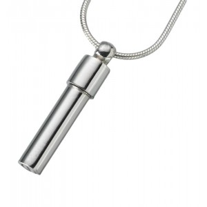 Sterling Silver Double Chamber Cylinder Pendant