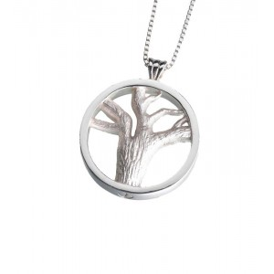 Sterling Silver Tree of Lives Pendant