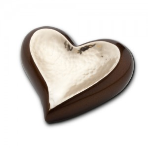Keepsake Heart (Brown and Hammered Gold)